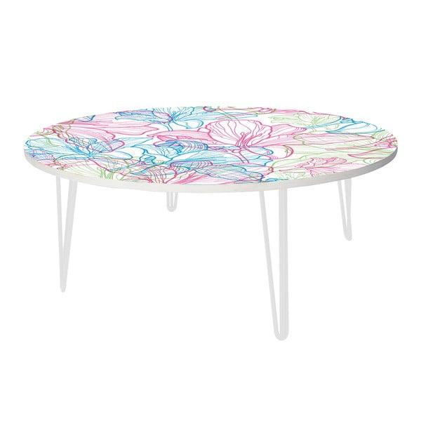 Kávový stolek Flowers In White