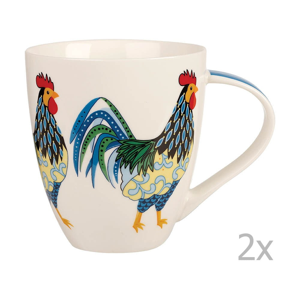 Sada 2 hrnků Churchill China Rooster, 500 ml