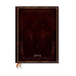 Diář na rok 2019 Paperblanks Black Moroccan, 18 x 23 cm