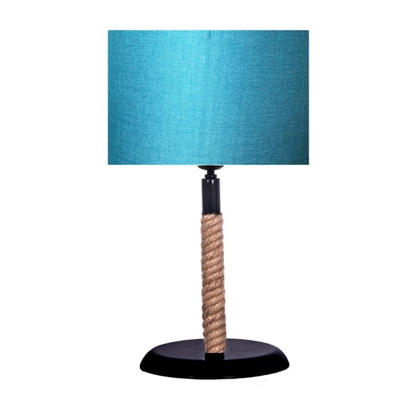 Stolní lampa s tyrkysovým stínítkem lampa Kate Louise Rope