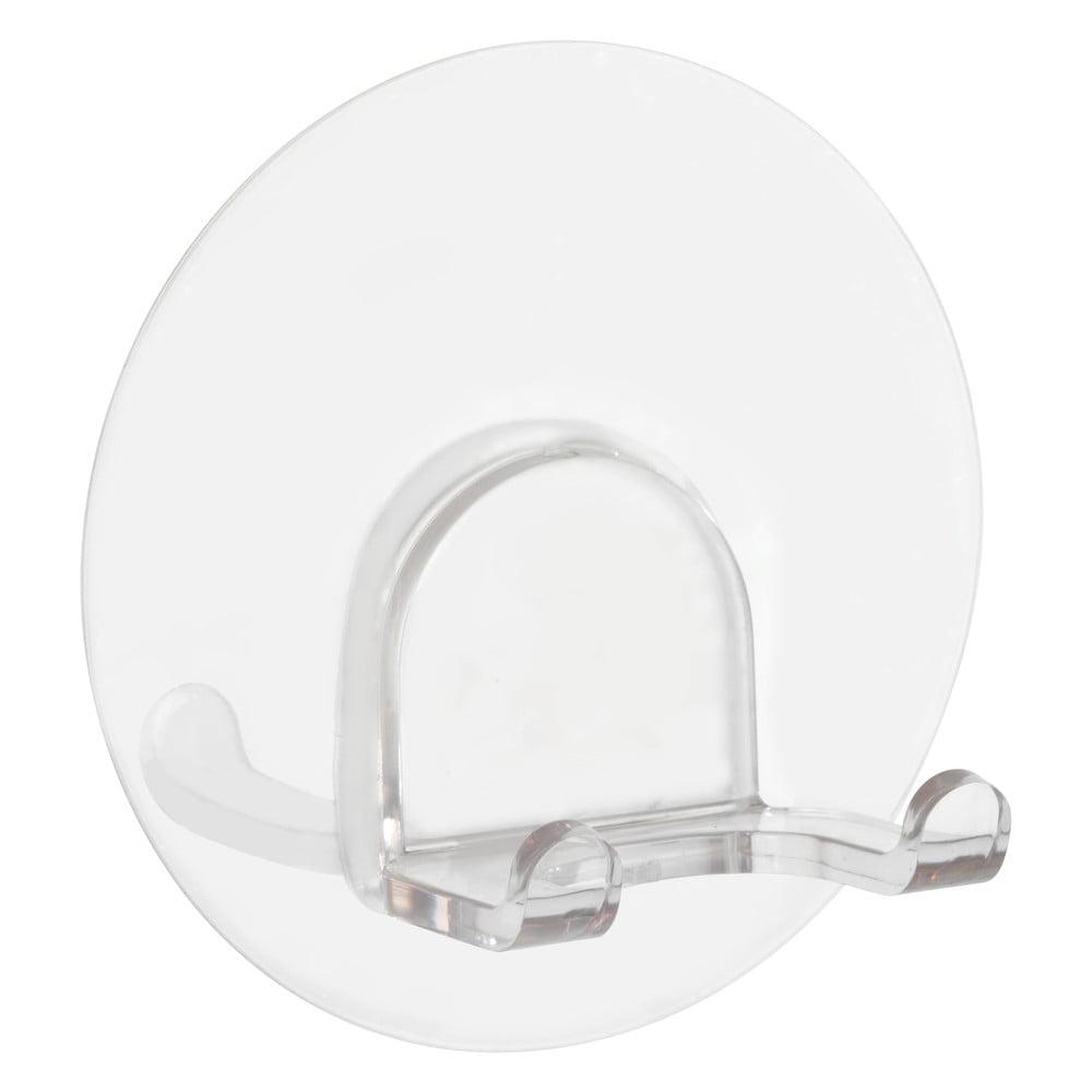 Produktové foto Dvojitý transparentní nástěnný háček Wenko Static-Loc® Duo