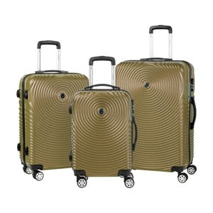 Sada 3 hnědých cestovních kufrů na kolečkách Murano Traveller