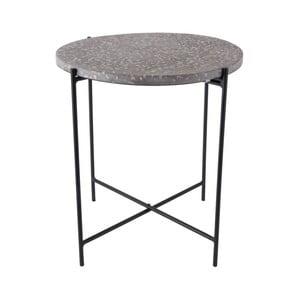 Šedý odkládací stolek Leitmotiv Terrazzo
