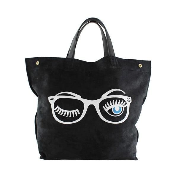 Kožená kabelka Wink, černá