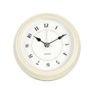 Krémové nástěnné hodiny Present Time Fifties, průměr 11,5cm