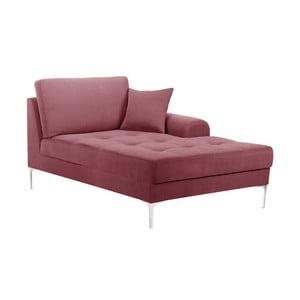 Canapea tip șezlong cu cotieră pe dreapta Corinne Cobson Dillinger, roz
