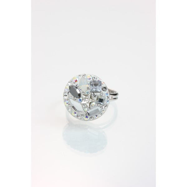 Prsten Laura Bruni se Swarovski Elements Clear, 18 mm