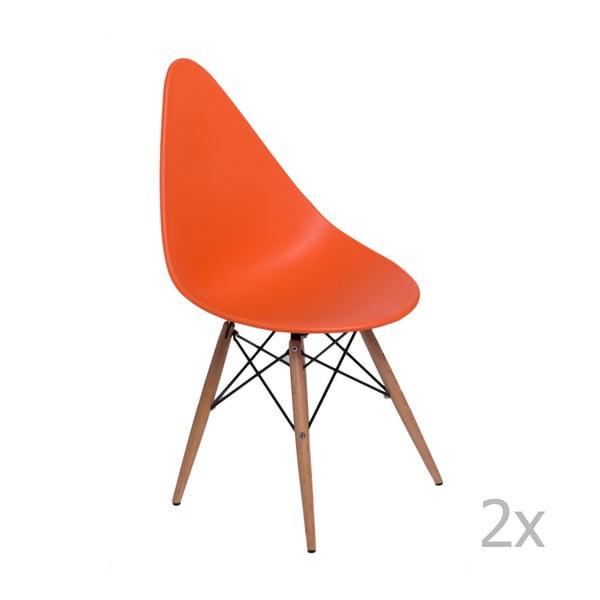 Sada 2 židlí D2 Rush DWS, oranžové