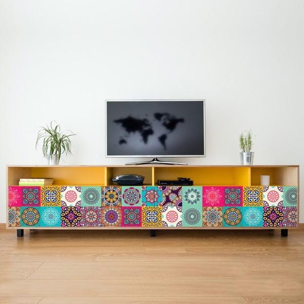 Sada 24 samolepek Ambiance Coralina, 15 x 15 cm