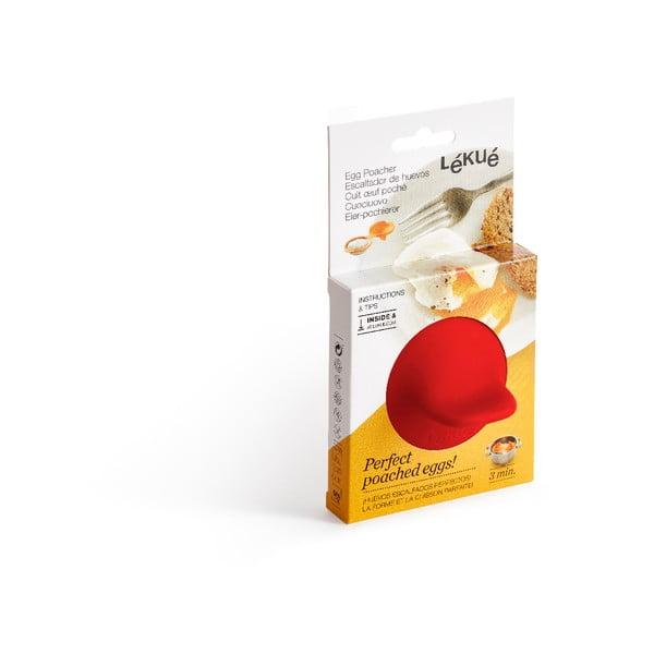 Červená silikonová formička na ztracené vejce Lékué Pouched