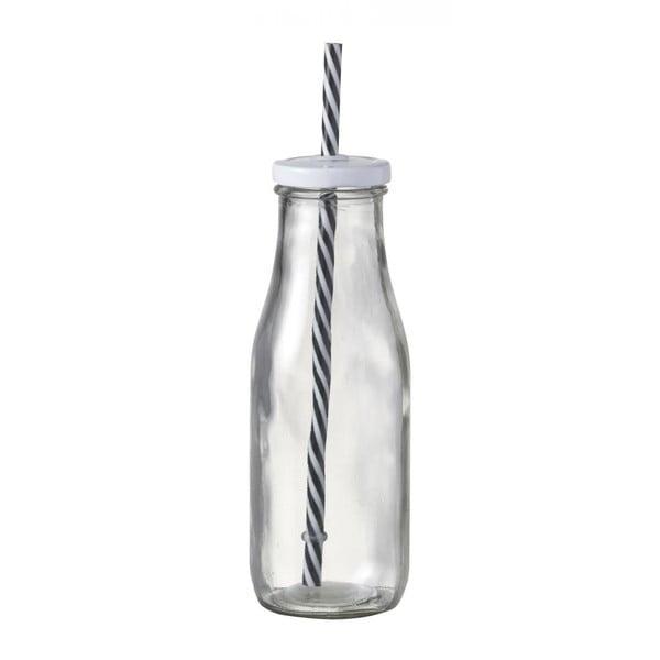 Skleněná lahev s brčkem Parlane Bottle Milk