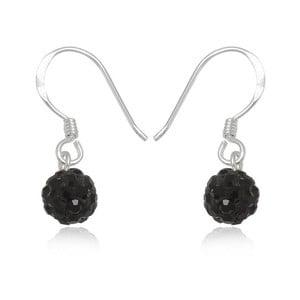 Stříbrné náušnice s černými krystaly Swarovski Mia
