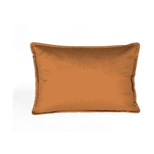 Oranžový dekorativní polštář Velvet Atelier, 50 x 35 cm