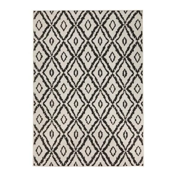 Hnědo-bílý venkovní koberec Bougari Rio, 80x150 cm
