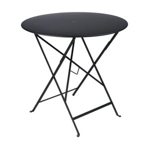 Černý zahradní stolek Fermob Bistro, Ø 77 cm