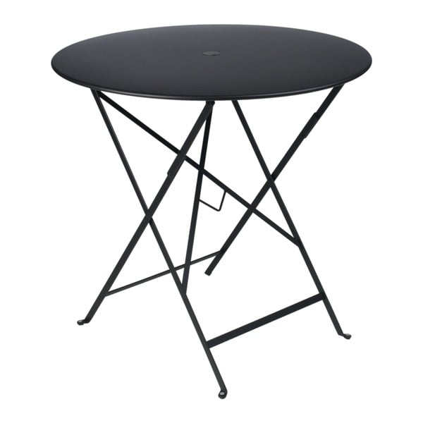 Černý zahradní stolek Fermob Bistro, ⌀ 77 cm