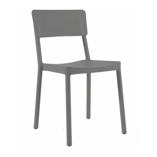 Sada 2 tmavě šedých zahradních židlí Resol Lisboa