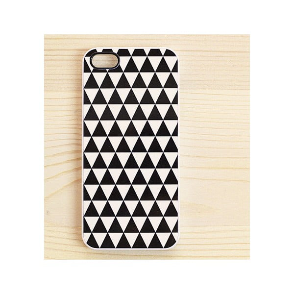 Obal na iPhone 4/4S, Triangles Black&White