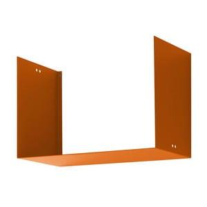 Nástěnná police Geometric Two, oranžová