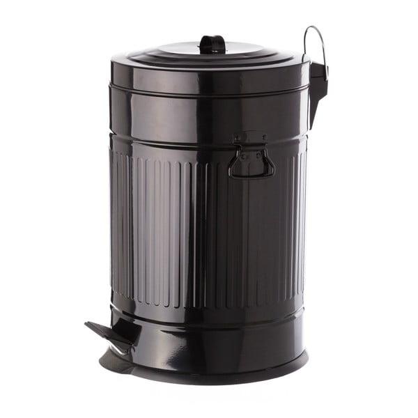 Fekete pedálos fém hulladékgyűjtő, 20 l - Unimasa