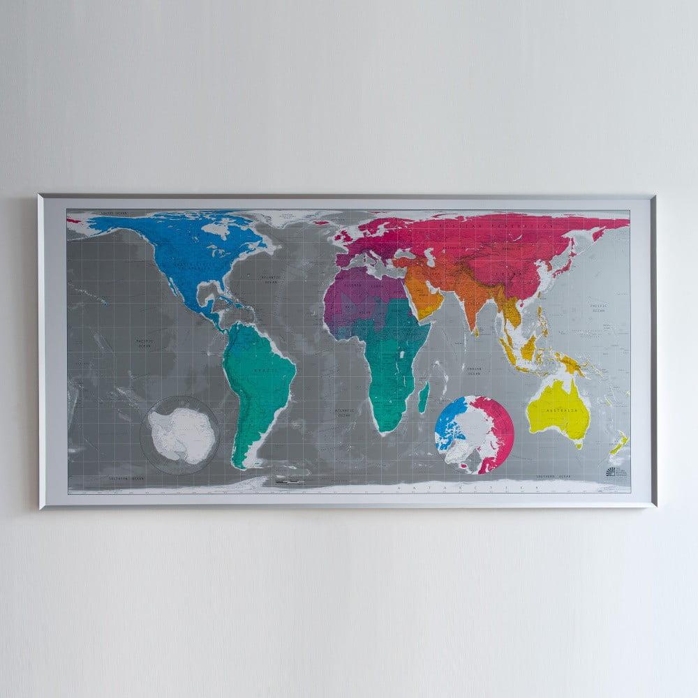 Mapa světa v průhledném pouzdru The Future Mapping Company Huge Future Map, 196x100 cm