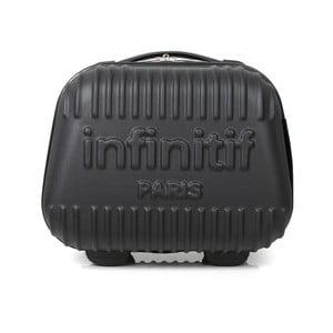 Černý kosmetický kufřík s potiskem INFINITIF, 12l