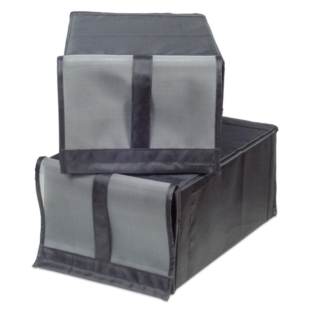 Sada 2 textilních úložných boxů na boty Jocca, 34 x 22 cm