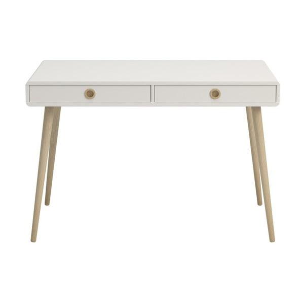 Krémově bílý psací stůl Steens Soft Line, šířka 114,1 cm