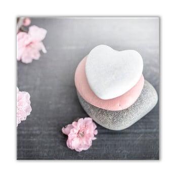 Tablou Styler Glasspik Spa & Zen Heart Stone, 30 x 30 cm de la Styler