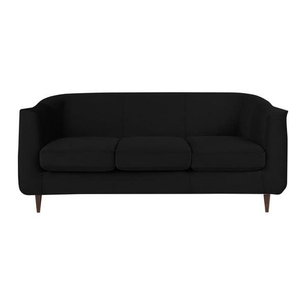 Černá třímístná pohovka Kooko Home Glam