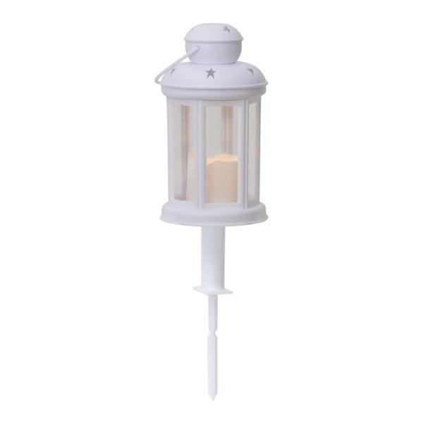 Biely LED záhradný lampáš Best Season Serene Dos