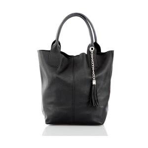 Černá kožená kabelka Glorious Black Cristin