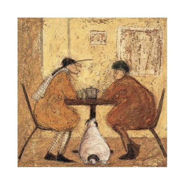 Obraz na plátně V čajovně od Sam Toft, 40x40 cm