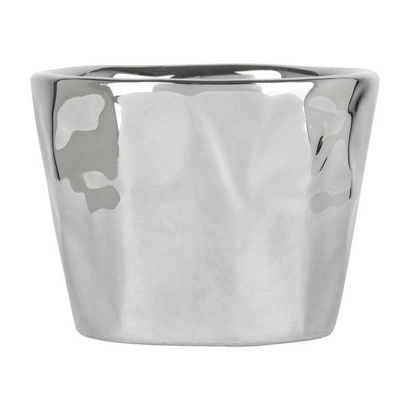 Květináč Athezza Earthenware Silver, 7 a 5 cm
