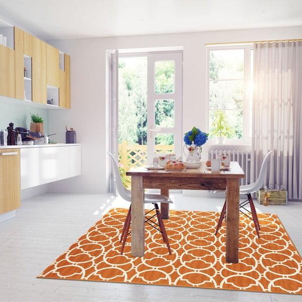 Covor foarte rezistent Floorita Interlaced, 160x230cm, portocaliu