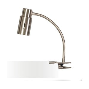 Stříbrná stolní lampa s klipem ETH Sava