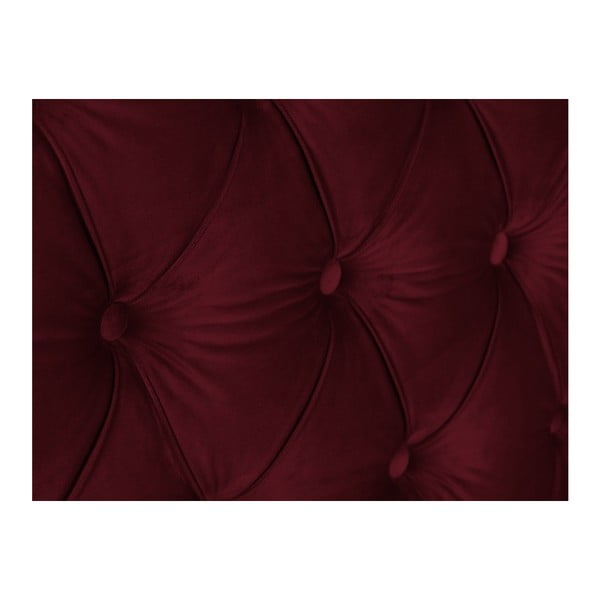 Červené čelo postele Mazzini Sofas Anette, 160 x 120 cm