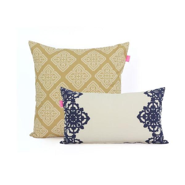 Sada 2 bavlněných povlaků na polštář Happy Friday Embroidery