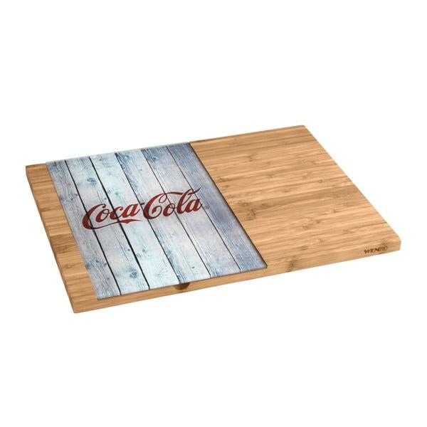 Coca-Cola World bambusz vágódeszka, üveg részlettel - Wenko