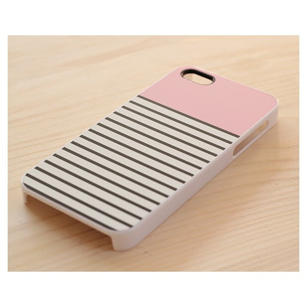 Obal na Samsung Galaxy S4, Striped Pastel Pink/white