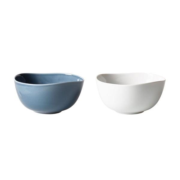 Zestaw 2 niebiesko-białych porcelanowych misek Like by Villeroy & Boch Group