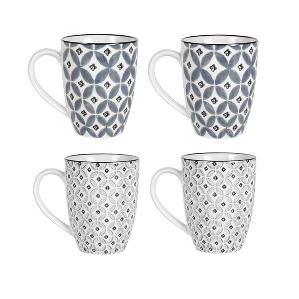 Sada 4 porcelánových hrnků Old Floor Cups Ceramic