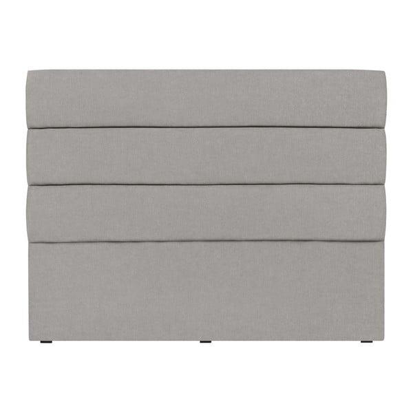 Světle šedé čelo postele Mazzini Sofas Pesaro, 180 x 120 cm