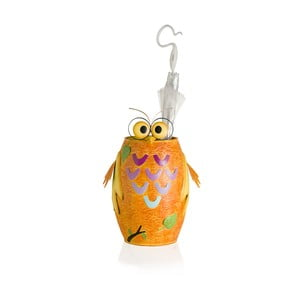 Oranžový železný stojan na deštníky ve tvaru sovy Brandani Owl