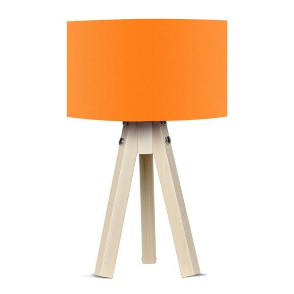 Naturel asztali lámpa narancssárga lámpabúrával - Kate Louise