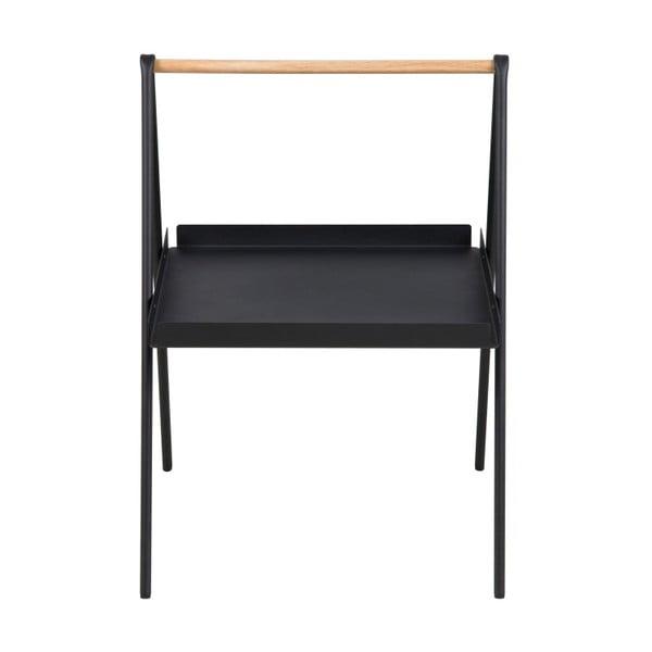 Černý odkládací stolek Actona Ecktisch