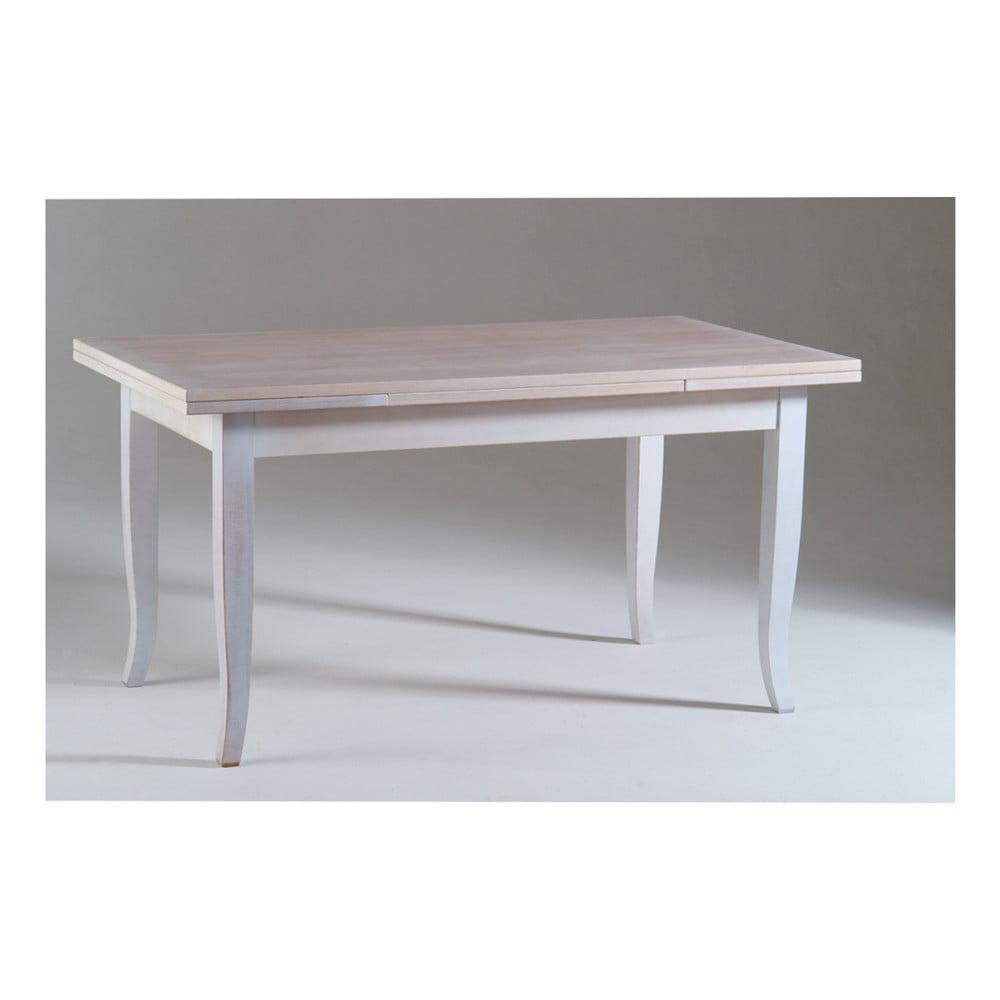 Bílý dřevěný rozkládací jídelní stůl Castagnetti Justine, 160x80cm