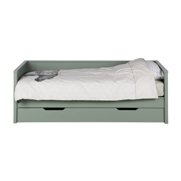 Zelená postel/sofa WOOOD Nikki, 200x100cm