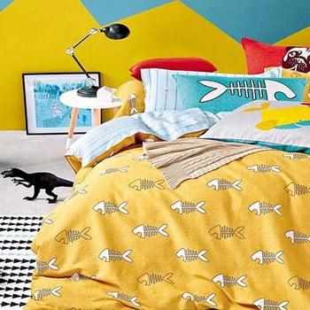 Lenjerie de pat reversibilă DecoKing Diamond Fishy, 135 x 200 cm de la DecoKing