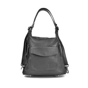 Černá kožená kabelka Carla Ferreri Amara